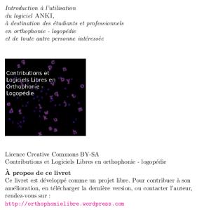 Aperçu d'une page du guide d'utilisation du logiciel ANKI