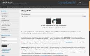 Page d'accueil du site Logophonia
